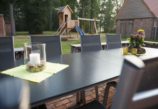 Ferienwohnung in Dinklage - Ferienhof Bünne, großer Garten und Terrasse